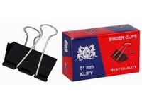 Spony pořadačové 51 mm černé 12 ks