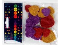 Samolepky dekorační srdce s glitterem DP