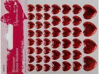 Samolepky dekorační srdce lesklé DP