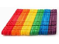 Dřívka dekorační barevné s výřezy DP