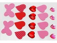 Samolepky dekorační pěnové a kamínky srdce a motýl 1 DP