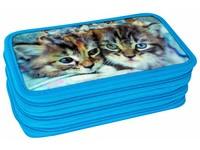 Penál třípatrový 3D 09 3 kočky