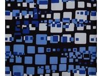 Pytlík na přezůvky Backy 1 modrý čtverce