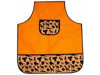 Zástěrka na výtvarnou výchovu Junior 01 zvířata oranžová