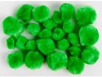 Bambulky akrylové mix 07 zelené