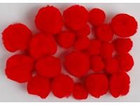 Bambulky akrylové mix 04 červené