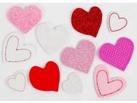 Samolepka pěnová 06 srdce s potiskem