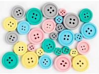 Knoflíky dřevěné pastelové DP