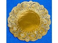 Krajka kulatá 11 cm zlatá DP