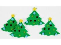 Samolepky z plsti 3D vánoční stromeček DP