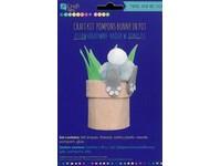 Sada kreatívna z plsti králik v kvetináči DP