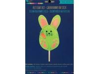 Sada z plsti zelený králik na dřívku DP