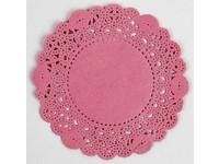 Čipka guľatá 11 cm ružová