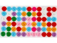 Knoflíky samolepicí barevné