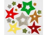 Samolepky z pěny brokátové hvězdy DP