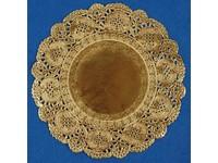 Čipka guľatá 11 cm zlatá