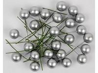 Cesmína ovoce 12 cm stříbrné