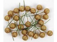 Cesmína ovoce 12 cm zlaté glitter