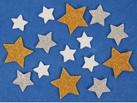 Samolepka pěnová 15 hvězdy