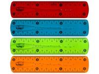 Pravítko 15 cm Line flexi mix