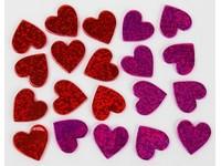 Samolepky z pěny holografické srdce DP