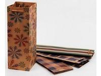 Taška papírová Craft na láhev 2 Ornament mix