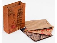 Taška papírová Craft střední 6 Ornament mix