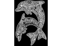 Omaľovánka semišová Dolphins