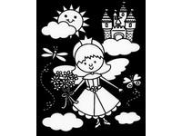 Omaľovánka semišová Princess