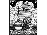 Omaľovánka semišová Ship