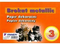 Papier dekoračný Brokat metallic 03