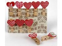 Kolíčky dekorační Shapes 01 srdce
