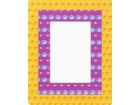 Fotorámeček 3D 10x15 samolepicí 4 žlutofialový
