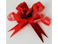 Kokarda Glitter 10 ks 4 červená