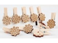 Kolíčky dekorační XFR-001 vločka
