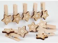 Kolíčky dekorační XFR-008 hvězda