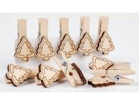 Kolíčky dekorační XFR-011 stromeček