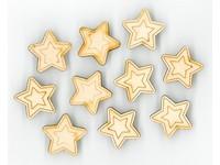 Samolepka dřevěná X3D-001 hvězda