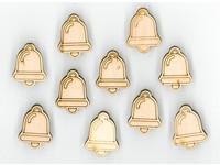 Samolepka dřevěná X3D-003 zvoneček
