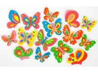 Samolepka pěnová 18 motýli