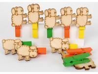 Kolíčky dekorační LHCSS-010 ovečky