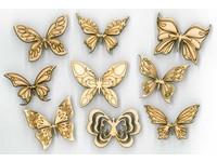 Samolepky dřevěné LHDD-002 motýlci