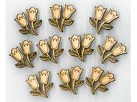 Samolepky dřevěné LTC-003A1 tulipány