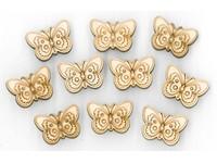Samolepky dřevěné LTC-002A1 motýlci