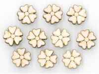 Samolepky dřevěné LTC-006A1 kytičky