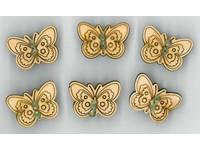 Samolepky dřevěné LTA-003A3 motýlci