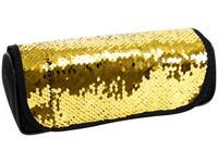 Penál etue s klopou Sequin 01 zlatý