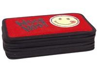 Penál dvojpatrový ApSequin 01 červený smajlík