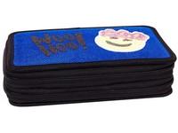 Penál dvojpatrový ApSequin 02 modrý smajlík