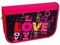 Penál se 2 klopami Love 01 nápis